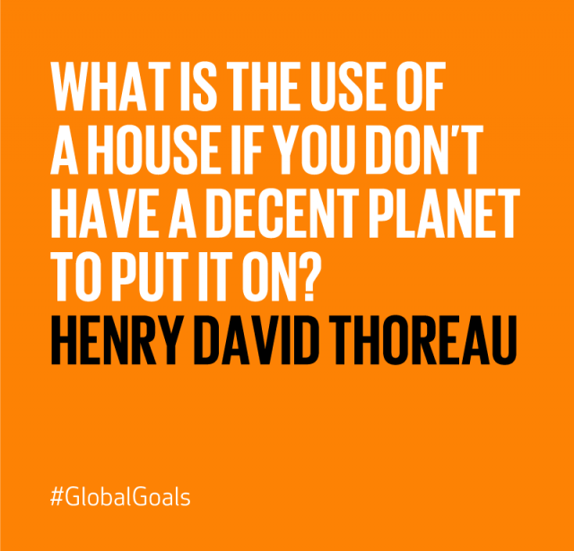Sustainable Cities Henry David Thoreau Quote