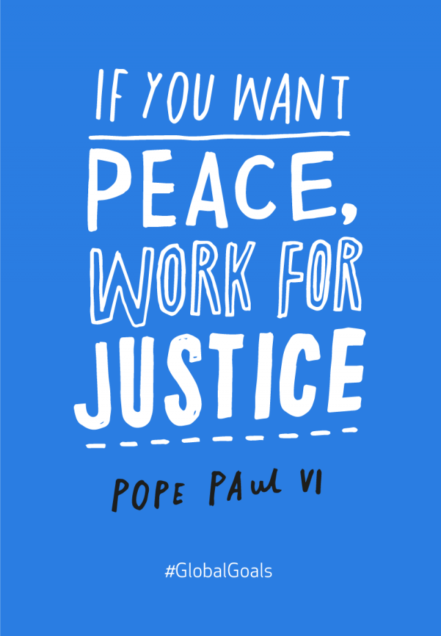 Peace and Justice Pope Paul VI Quote