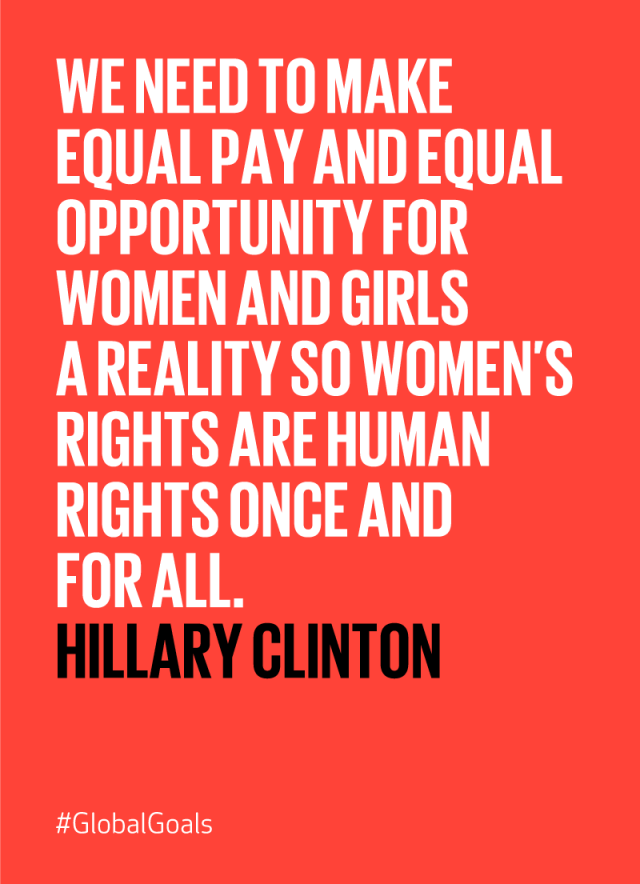 Gendery Equality Hillary Clinton Quote