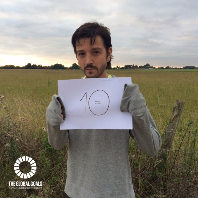 Diego Luna supports Goal 10 Reduced Inequalities #globalgoals