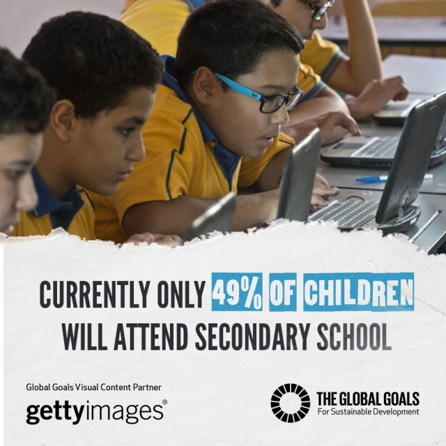 Currently only 49% of children will attend secondary school